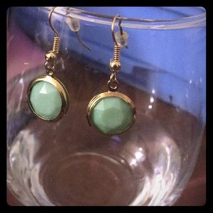 Brand New Gold/mint green earrings